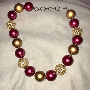 Jewelry - Garnet and Gold (FSU) chunky necklace.